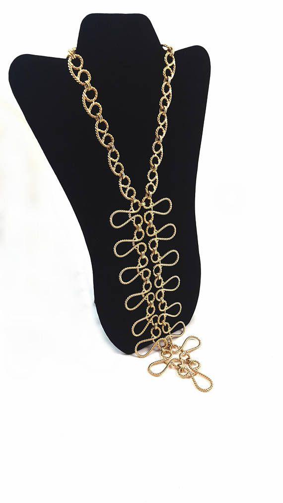Vintage TRIFARI Necklace Bib Necklace Breast Plate Necklace