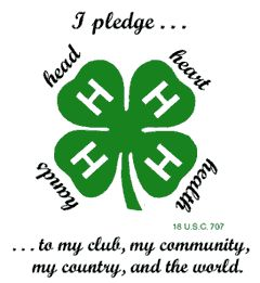 4H - how I longed to join as a young girl.