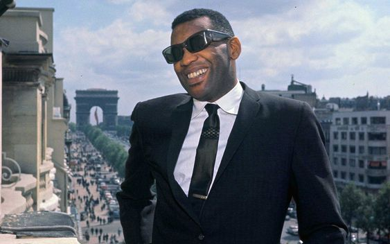 Ray Charles in Paris, 1961 or 1962.