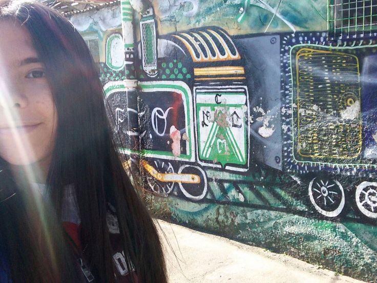 Foto tomada después del partido Ferro-Guaraní en el club Ferrocarril Oeste.