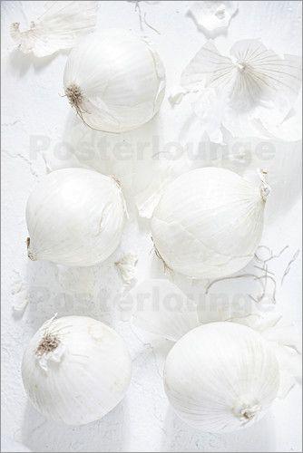 K&L Food Style - Zwiebel Stillleben in weiß
