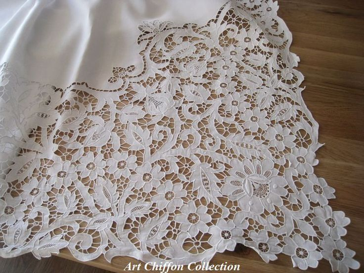cutwork embroidery | Rose Grey Thread Hand Embroidery Cutwork Cotton Doily Placemat - Google Search - Google Search