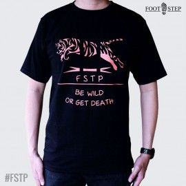 Kaos Cowo FSTP Tiger Black Orange | www.gloryfashion.net