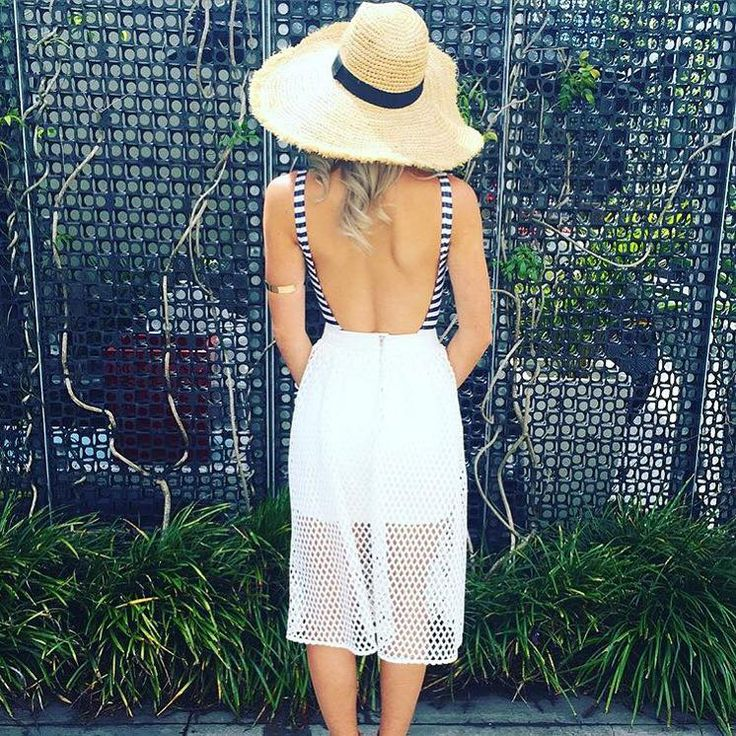 Sunday Styling in the Honolulu Wide Brim Hat, Nautical One Piece and Aria Midi Skirt, get the look in Boutiques and Online xx
