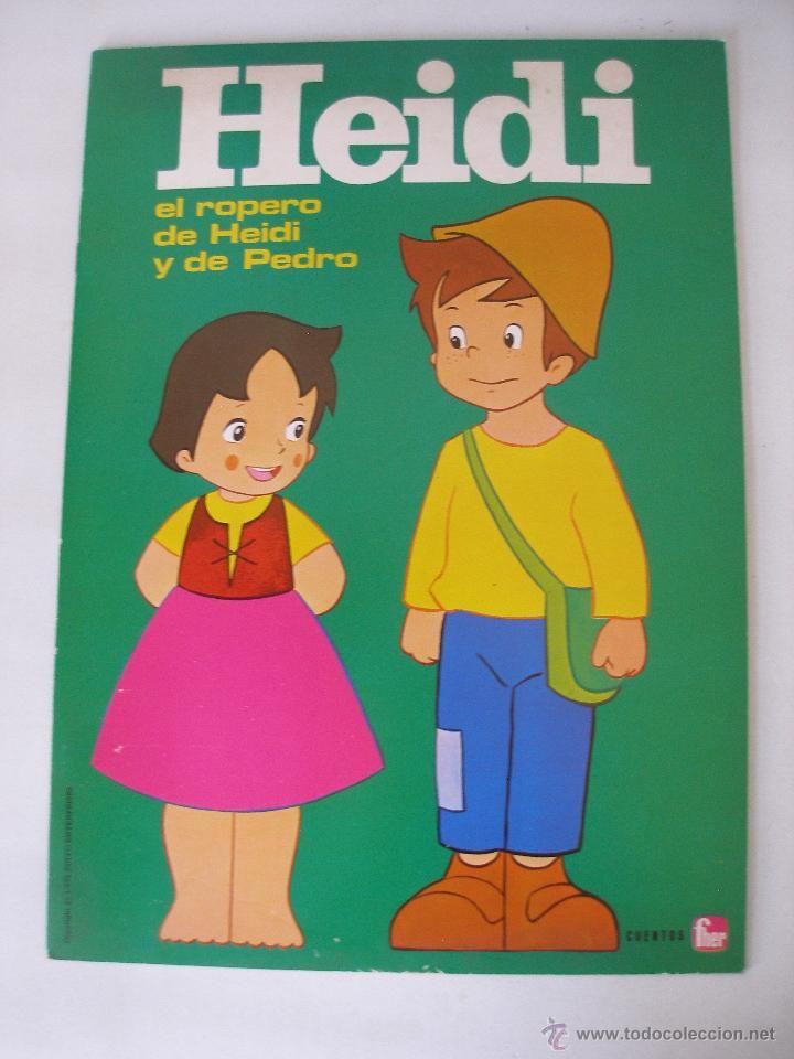 Cuento recortable Heidi el ropero de Heidi y Pedro , Cuentos Fher año 1975 , Sin uso