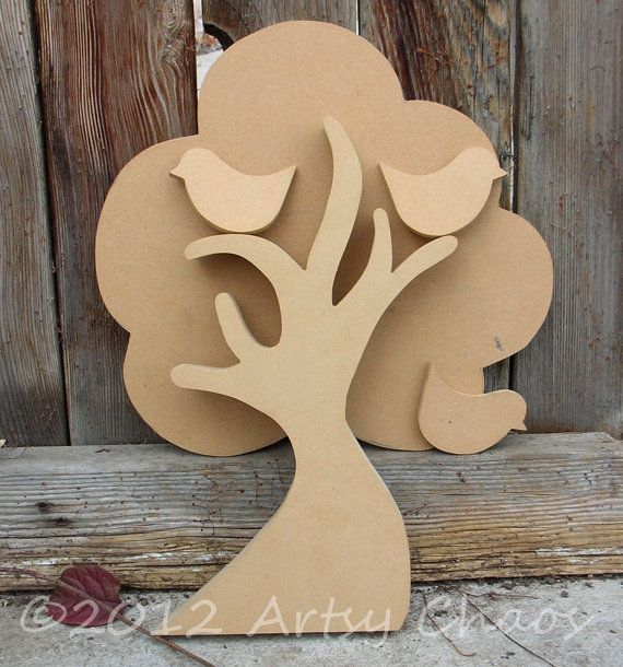 Unfinished Wood Family Tree Decor by artsychaos on Etsy
