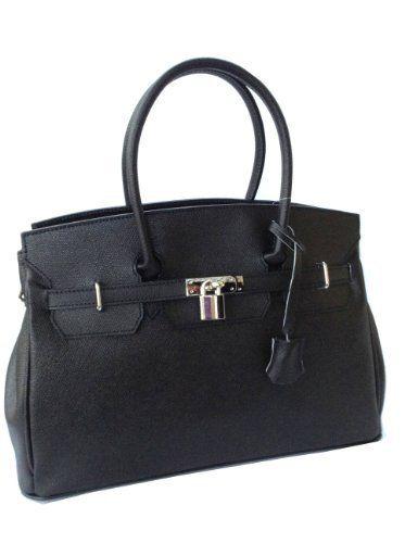 Luxury Black Birkin Style Italian Leather Handbag  Price : £79.00 http://www.kimandjo.com/Luxury-Birkin-Italian-Leather-Handbag/dp/B00B1EG828