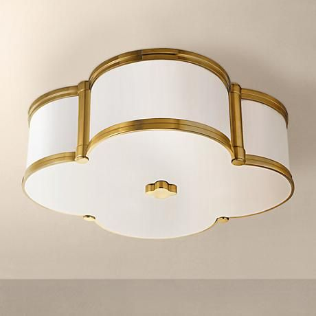 Quatrefoil gold ceiling fixture for the win. Wish I could have one in every room!