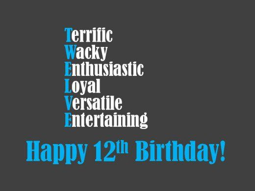 Image Result For Verses 12 Year Old Birthday Card