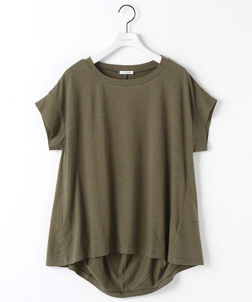 綿モダール変形Tシャツ(Tシャツ) | ELFORBR/エルフォーブル のファッション通販サイト - セレクトスクエア