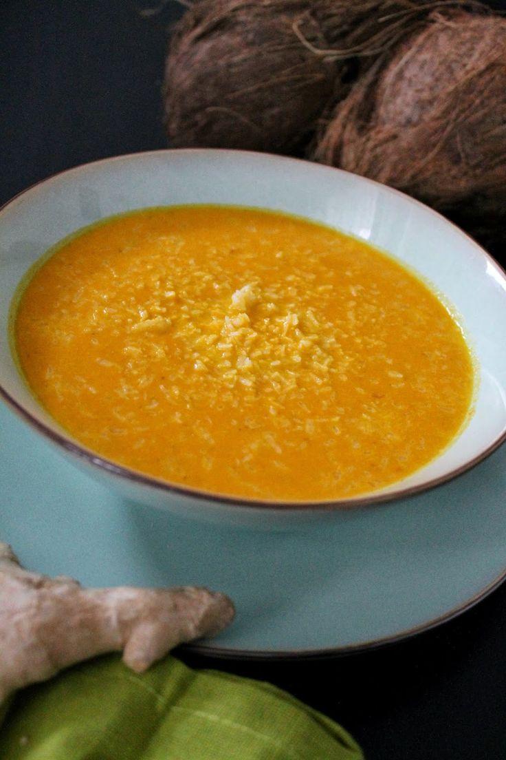 Kokosowy krem z marchwi z curry
