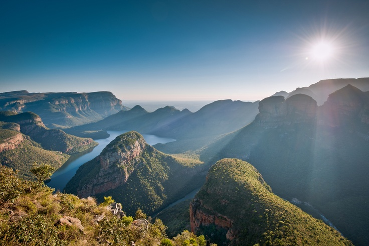 """The Greenest Canyon in the world! Blyde River Canyon of South Africa. Also known as """"God's Window in Paradise Country"""" #CoxandKings"""