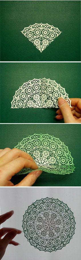 Moment of paradise. Kirigami art ( Cut paper ) by Syandery