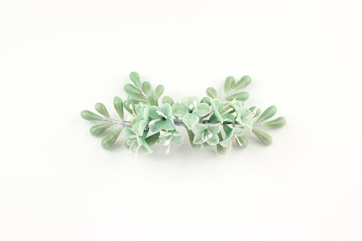 Adorno tocado de flores en verde menta de OLGAALOR en Etsy