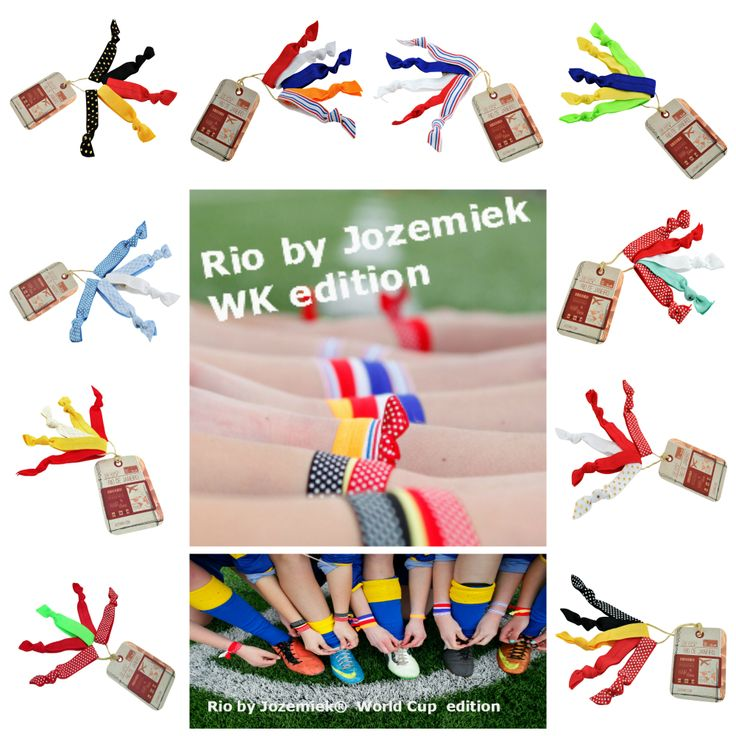 Collage Rio by Jozemiek bracelet/ hairties World Cup edition