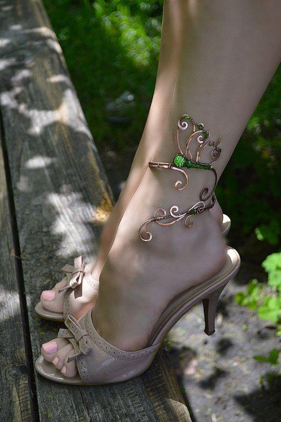 Beauty Geschenk Fußkettchen, Schmetterling Schmuck, Körperschmuck, Schmetterling, Bein Armband, Knöchel Schmuck, Silberschmuck, Geschenk für ihr Armband gewickelt