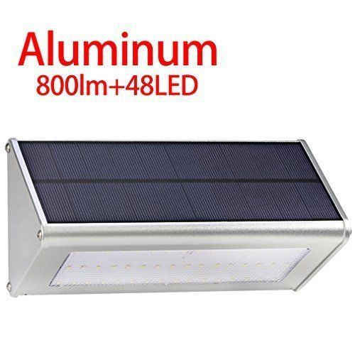 Outdoor Solar LED Lights Radar Motion Sensor Waterproof Aluminum 48 LED Light  #OutdoorSolutions