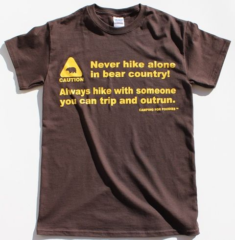 with and outrun in hike Funny Always can you and stores Bears hike in Tee Never   michigan Brown Tee     country  with Tees alone trip bear Funny jewelry layaway Funny Shirts  Shirt someone