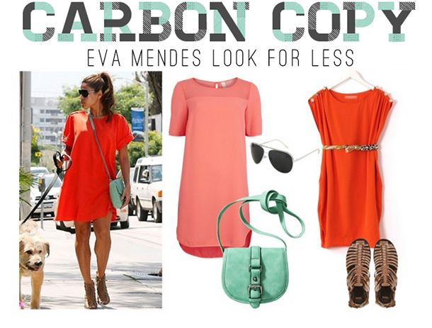 Steal Eva Mendes' Traffic-Stopping Look #looksforless #springfashion #summer #aviators #gladiators #statementbag