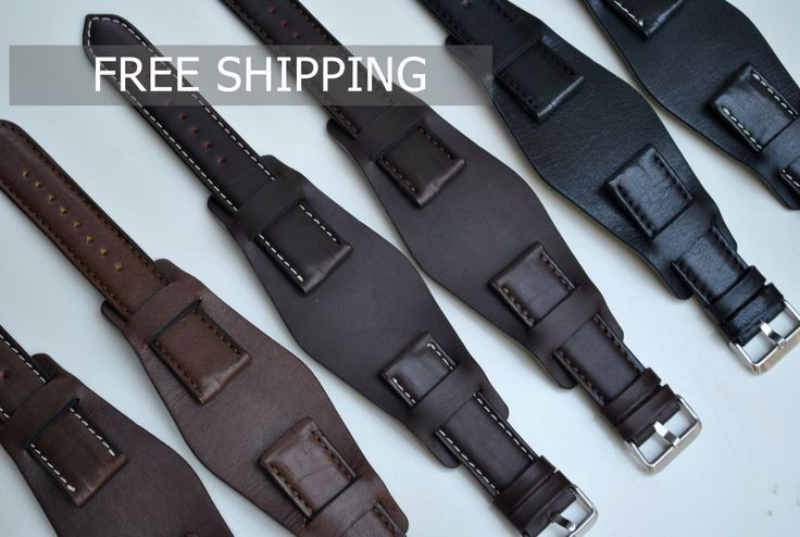 Handmade Wide 22mm Leather Adjustable Watch Straps- Ready to Ship- Available in Many Designs and Lug Sizes On Order by ChristianStraps on Etsy