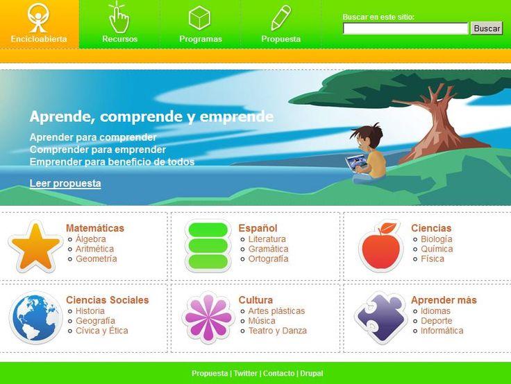 plataforma educativa libre, abierta, gratuita y lúdica. Más de 400 recursos