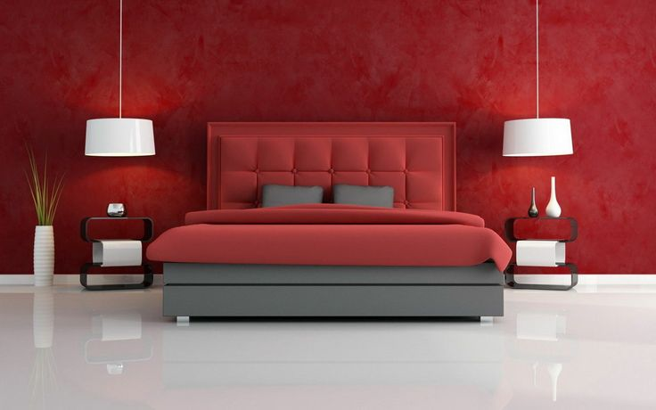 Home Interior, Interior Designs for Bedrooms Built from What Kind of Person You Are: Minimalist Red Interior Designs For Bedrooms