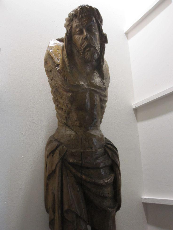 Cristo. s. XIV  transición del románico al gótico http://www.martinvillenalibreroanticuario.com/