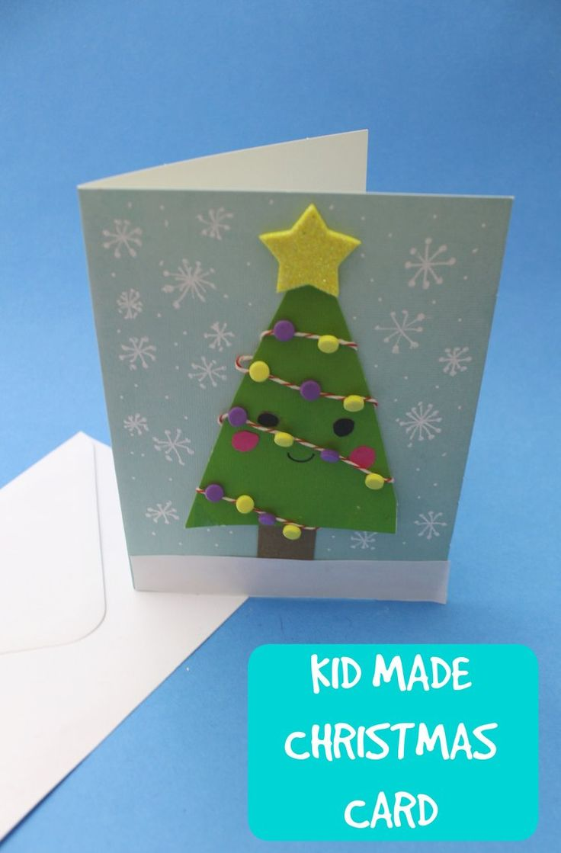 how to make a cute christmas tree card