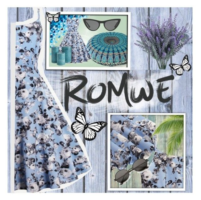 """Romwe"" by banhary ❤ liked on Polyvore featuring RoomMates Decor and Victoria, Victoria Beckham"
