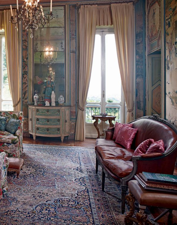 English Country House Drawing Rooms: VILLA D'AGLIE, TURIN