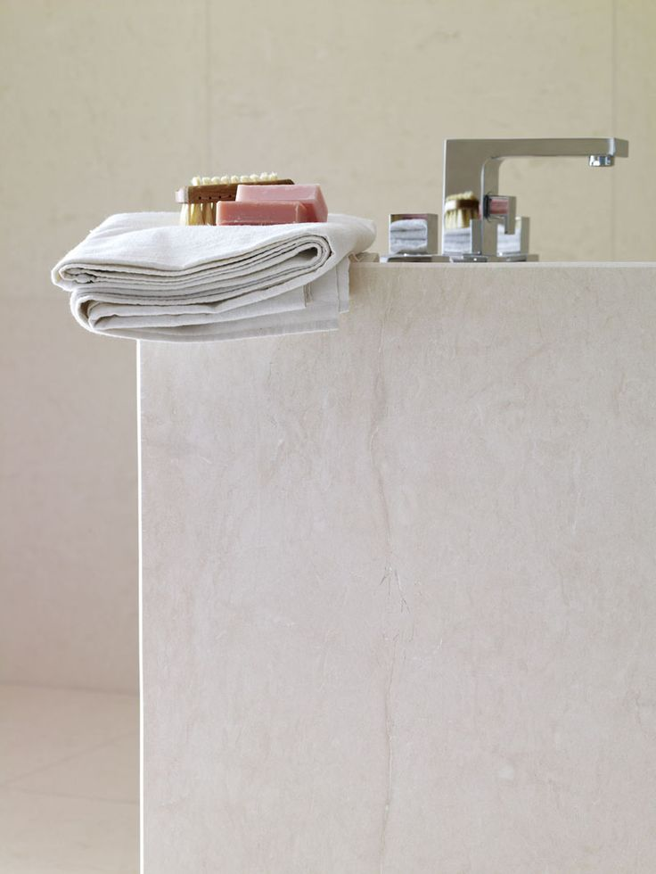 Pale Polished Limestone for bathroom if marble is too expensive