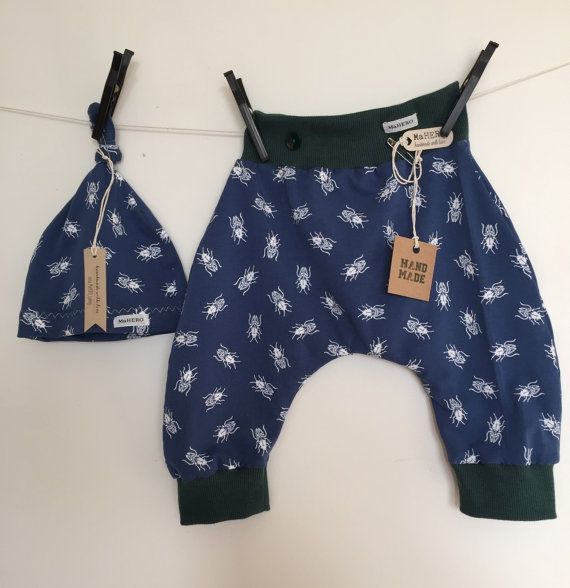 SET Baby harem pants Mosca  Baby Beanie / Baby Hat by MaHEROsydney