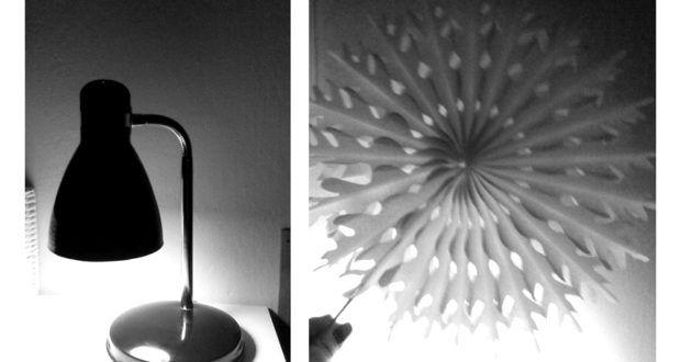 Oblečená lampa a andělská křídla na zdi | Elegantní bydlení