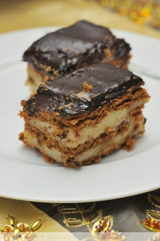 Muhallebili Bisküvi Pastası Tarifi | Mutfak Sırları