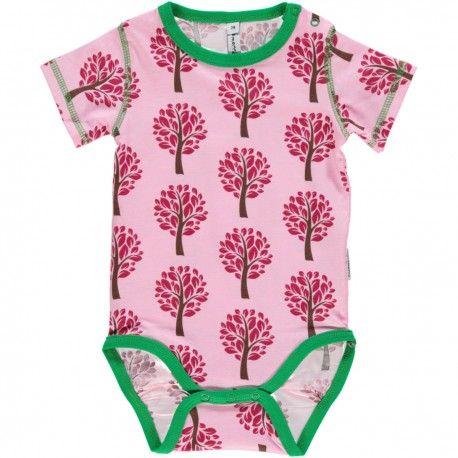 Body short sleeve, tree pink, Maxomorra