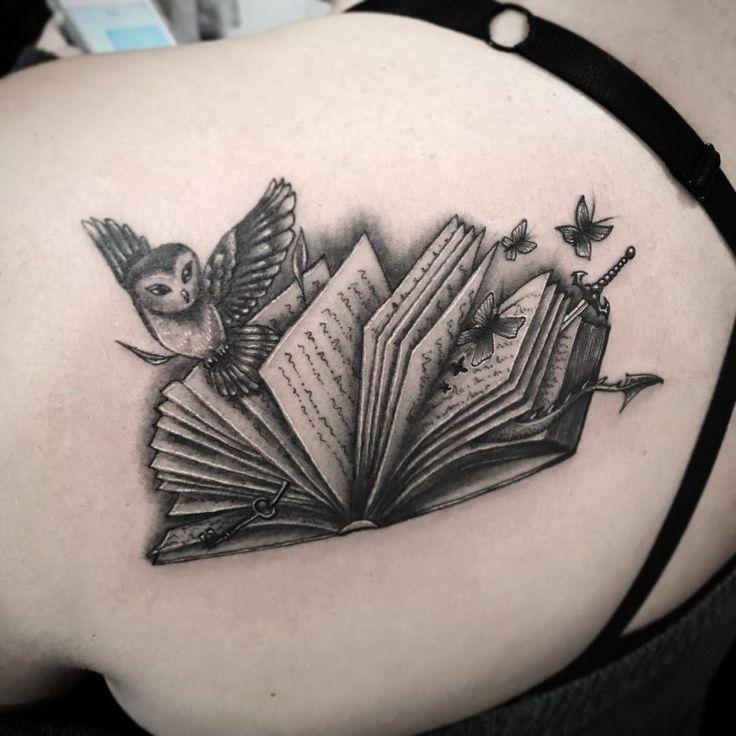 46 Awe-inspiring Book Tattoos for Literature Lovers