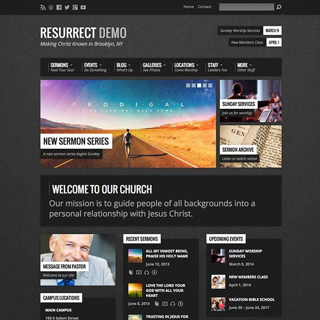 Resurrect Church WordPress Theme - WPExplorer