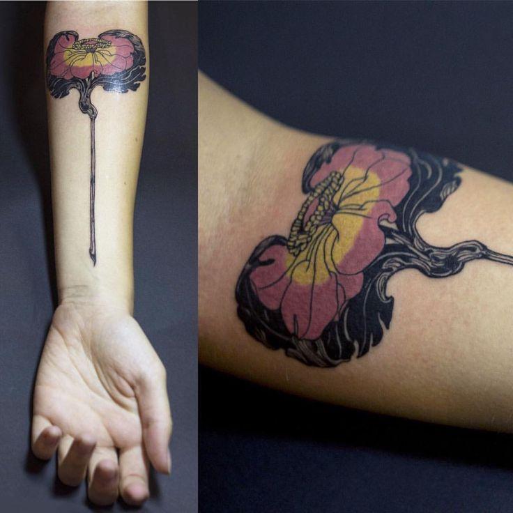 Art Nouveau Flower Tattoo: 261 Best Tattoo Images On Pinterest