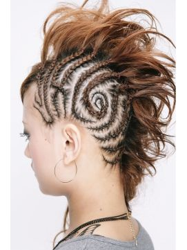 19 best images about Braided Mohawk on Pinterest