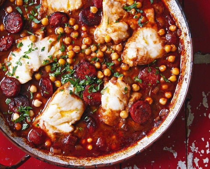 Spanish Cod Stew with Chickpeas