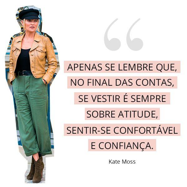 Os melhores conselhos de moda das fashion girls: kate moss