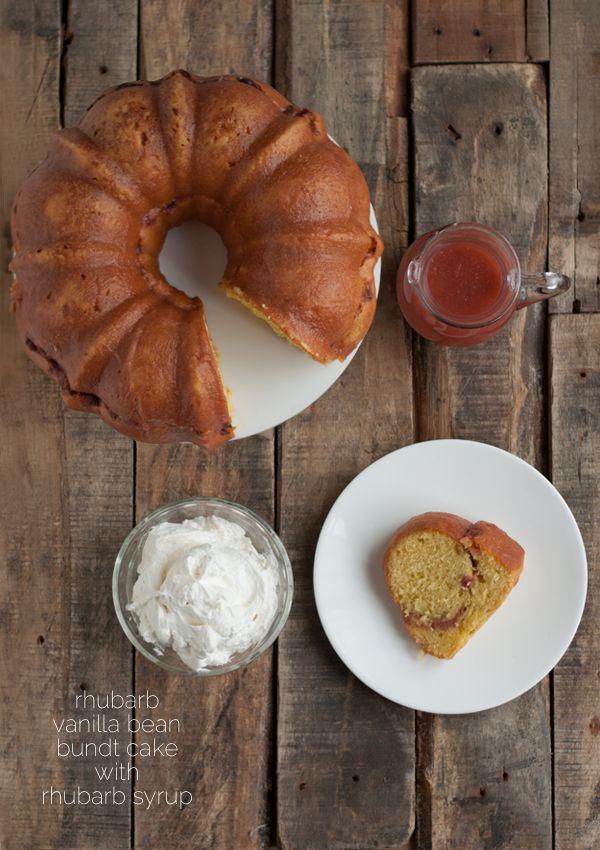 Recipe: Rhubarb Bundt Cake with Rhubarb Syrup