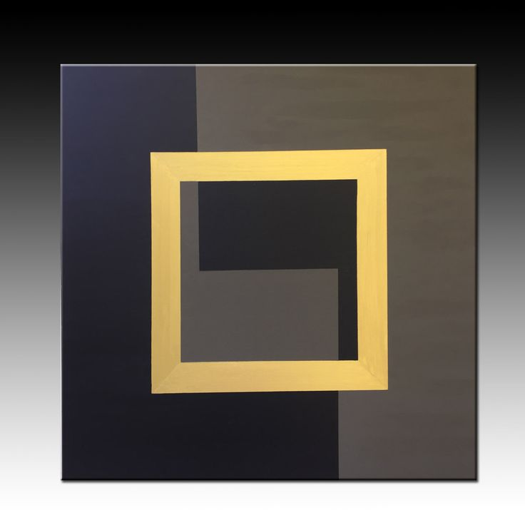 Black Olive Gold, Acrylic Painting, Original Geometric Painting, Extra Large Wall Art, Abstract Painting, 39''x39'' canvas, Metallic paint,