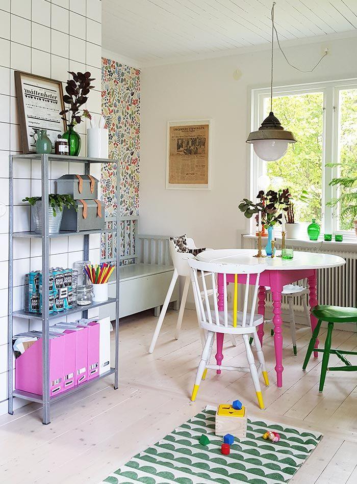 In Sweden, A Designer's Home Gushes Color and Pattern   Design*Sponge