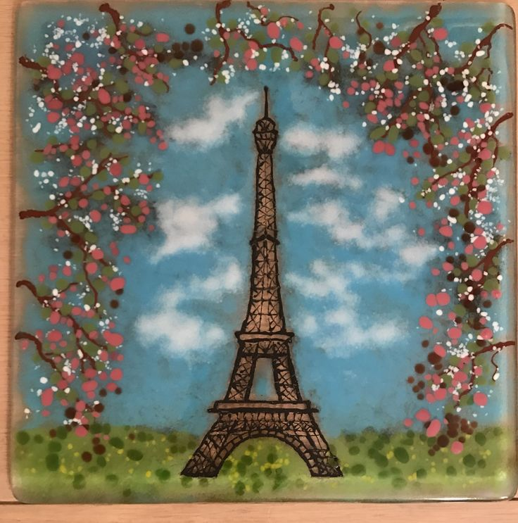Love my Eiffel Tower glass fusing project