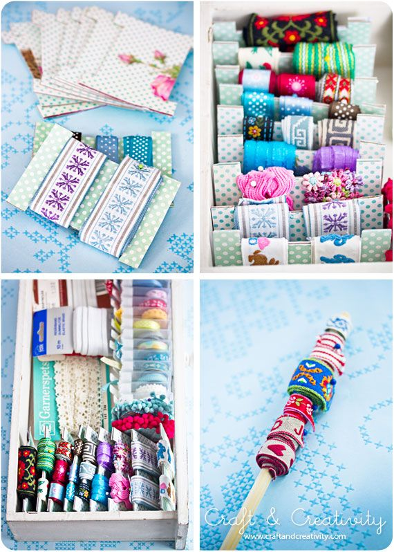 Now I know how to organize all the little scraps of ribbon I have...I need to find some ideas on what to use all the ribbon I have for...