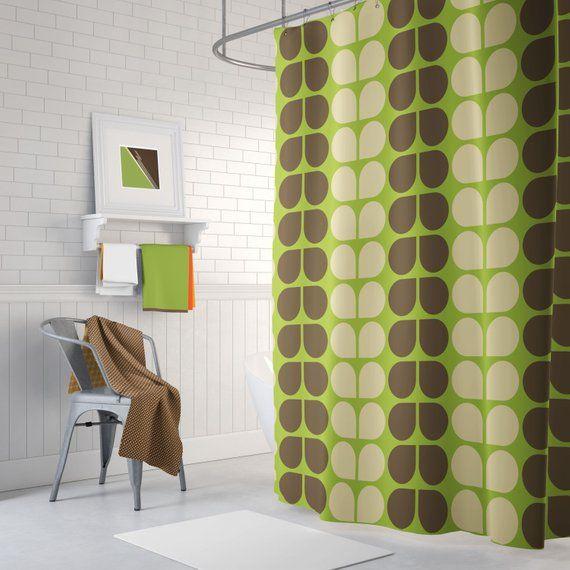 Retro Shower Curtain 70 S Shower Curtain Cool Shower Curtain