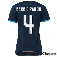 Maillot Football Real Madrid Le Bleu Marine Femme Sergio Ramos 4 Third 15 2016 2017 Pas Chere