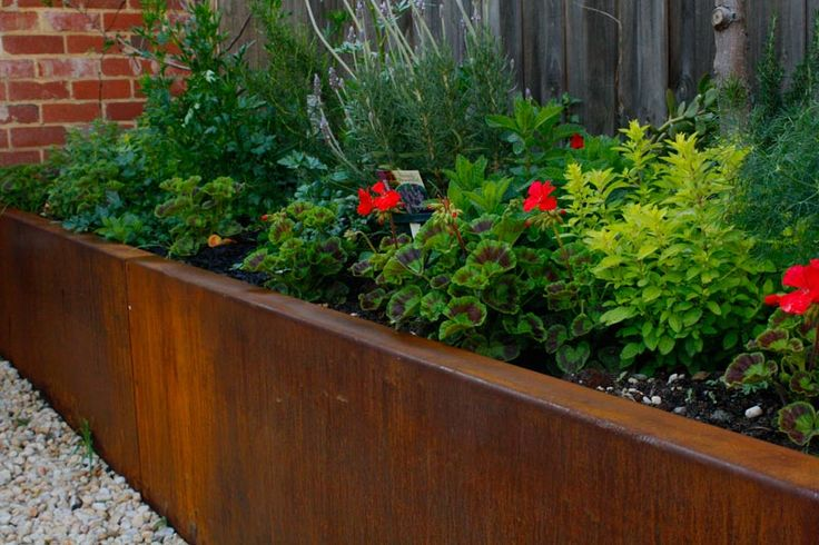landscape bed edging steel retaining walls melbourne corten