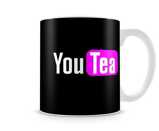 Caneca - You Tea é um produto baseado no maior site de videos You Tube, com uma estampa bem animada e descontraída.